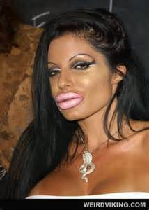 """Side-note, my mother told me once that if I didn't find the right shade of lipstick, my lips would look much like this...so no, the """"pouty"""" look doesn't work for everyone..."""
