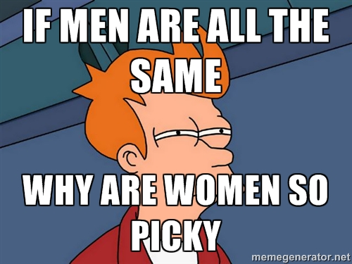 Women too picky about men